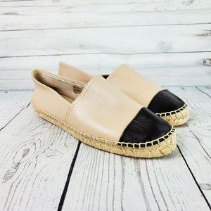Aldo Tan Leather Black Toe Cap Espadrilles Sz. 11
